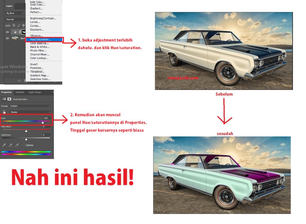 cara merubah warna objek dengan photoshop